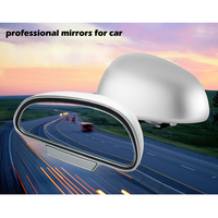 1pair 360 Adjustable Degree Wide Angle Side Rear Mirrors Blind Spot Snap Way For Parking Auxiliary