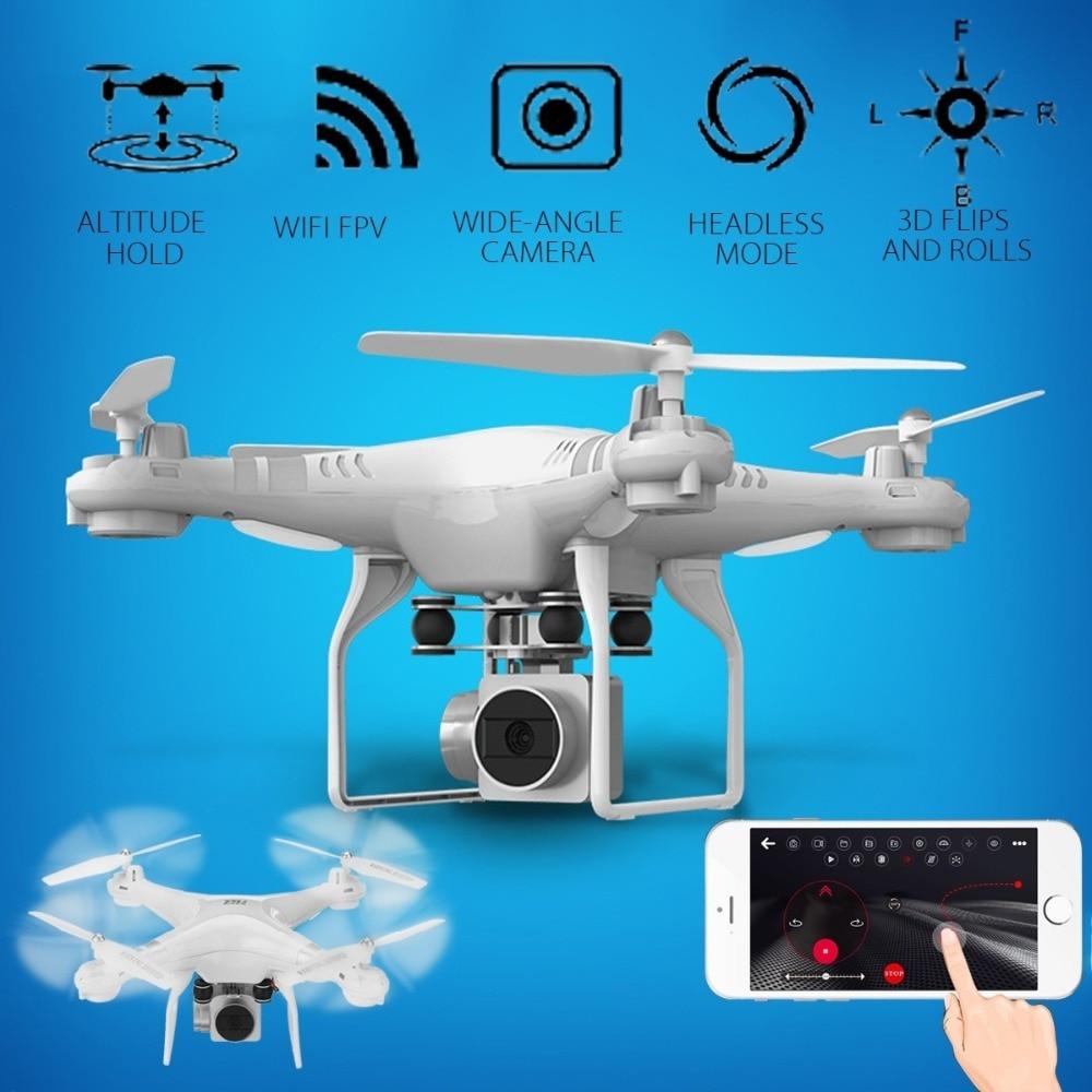 Lensoul Drone 4 Canali 2.4 GHz 2MP HD fotocamera Illuminazione A LED-Axis Gyro 360 gradi di Rotolamento Quadcopter APP Set Altezza Remote UAV