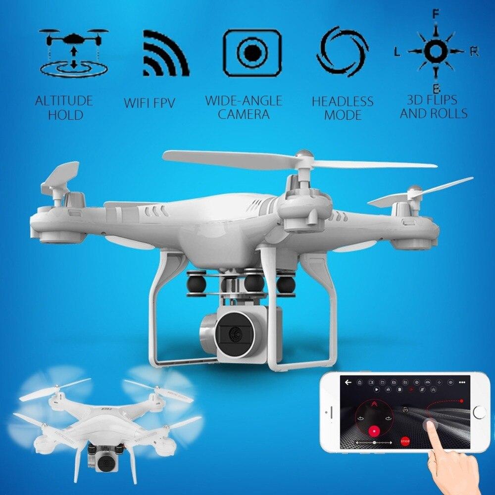 Lensoul Drone 4 canal 2,4 GHz 2MP HD Cámara LED iluminación 6-Axis Gyro 360 grados rodando Quadcopter APP set altura remoto UAV