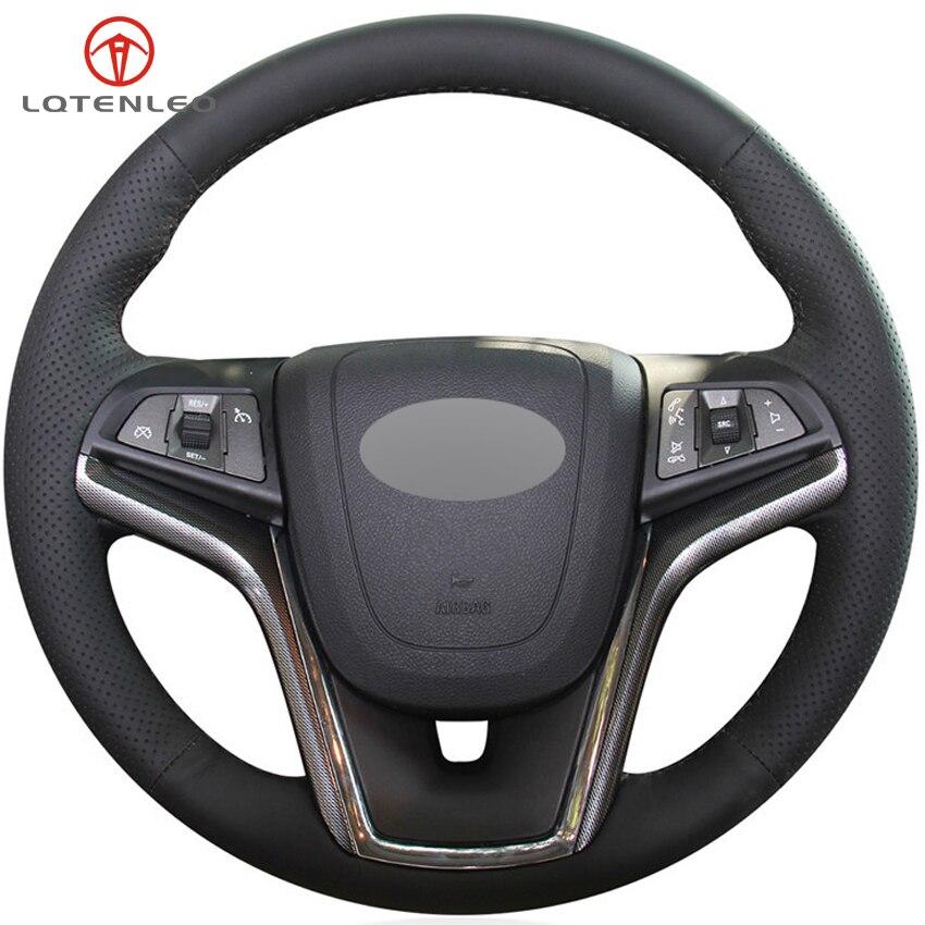 Attent Lqtenleo Zwart Kunstleer Auto Stuurhoes Voor Chevrolet Malibu 2011-2018 Volt Camaro 2011-2015 Aveo 2016-2018 Esthetisch Uiterlijk