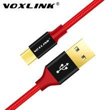 VOXLINK Nylon Geflochtene USB Kabel Rollenmaschinenlinie Typc Kabel Für Samsung S10 S9 S8 Galaxy Für Huawei LG HTC 10 Macbook Xiaomi mi8 A1Charging Schnur