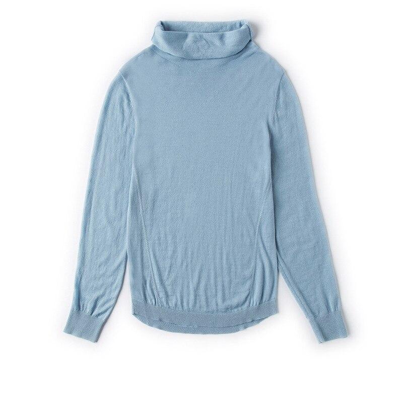 Solide Base Chart Automne see 2018 Chemises Tricot À See De En Lâche Femmes Nouvelle Élastique Manches Chandail Pulls Chart Col Roulé Longues r8W1ArqfF