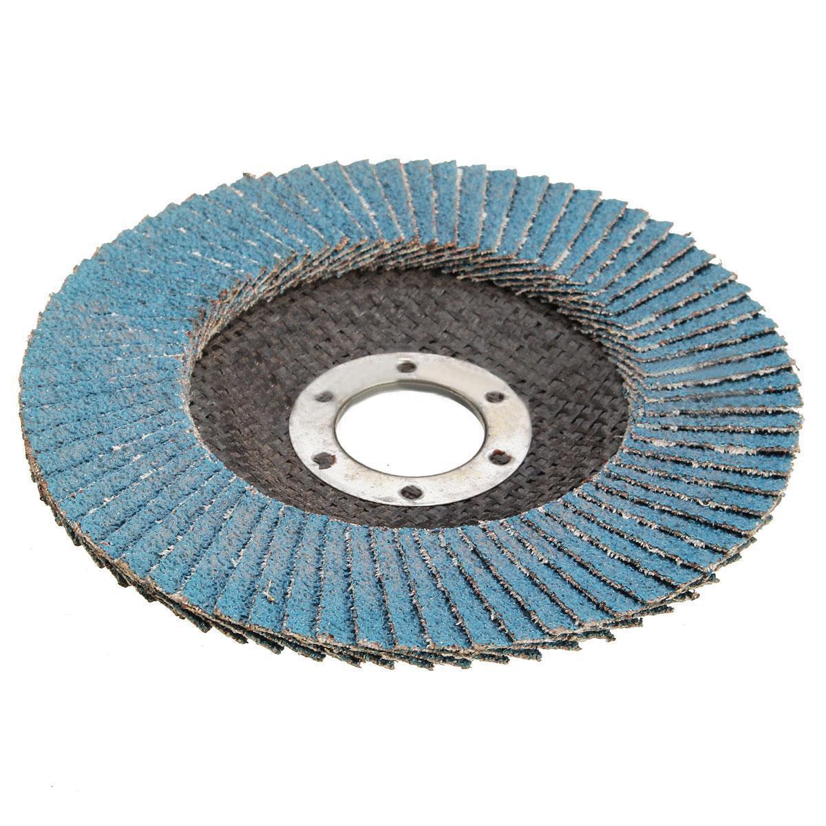 10 Pcs 4-1//2 X 7//8 120 Grits Premium Zirconia Flap Discs Grinding Wheel Sandpaper for Grinding