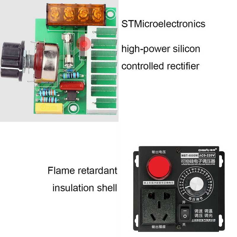 Adjustable AC 220V 4000W SCR Electronic Voltage Regulator Temperature Motor  FAN Speed Controller Dimmer Electric Tool Wholesale