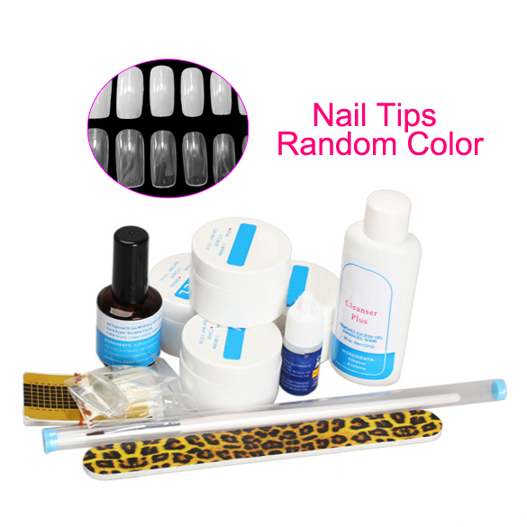 Manicure Nail Art Base Tool UV Soak Off Gel Nail Base Gel Top Coat Gel Nail Polish Kit Tools   HB88