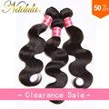 Распродажа 6А Малайзии Объемная Волна 3 Bundle Предложения Малайзии Девы Волос Объемной Волны Natural Color 100% Человеческих Волос