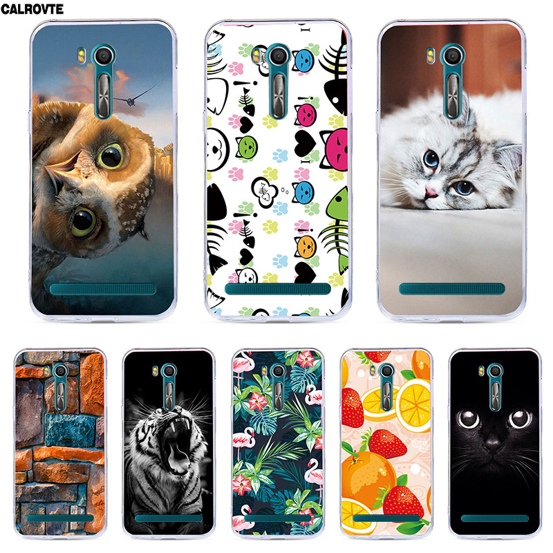 ZB452KG Case Soft SIlicone Back Cover For ASUS ZenFone Go ZB452KG ZB450KL ZB452 452KG 452 Shell Phone Cases Cute Animal Cat(China)
