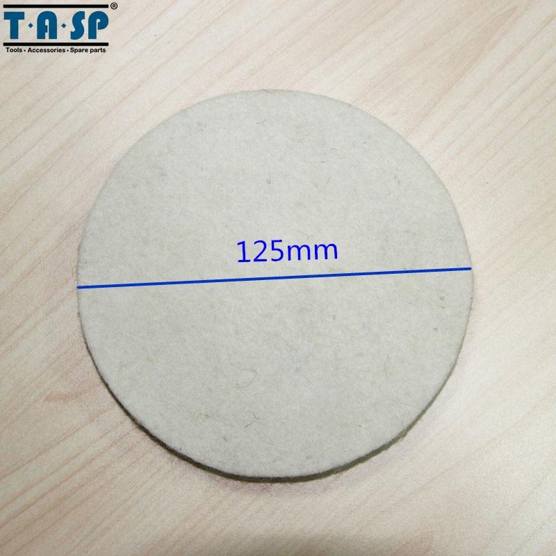 TASP 2 pezzi 125 mm lana lucidatura e lucidatura Pad Hook & Loop per - Utensili elettrici - Fotografia 3