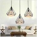 Retro iluminação interior luz Do Vintage pendente luzes LED 24 tipos de gaiola de ferro estilo armazém abajur luminária