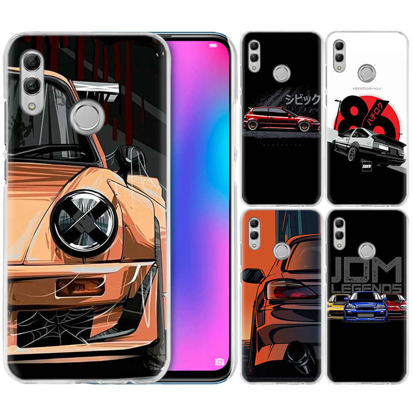 Cool Sports Car Comic Case for Huawei Honor 8X Y9 9 10 Lite Play 7C 8C 8S 8A 7S 7A Pro V20 20i Y6 Y7 Y5 2019 Hard PC Phone Cover