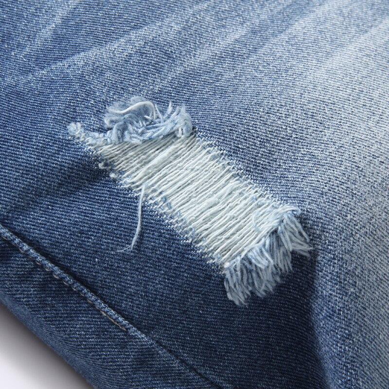 Mens Shorts Summer New Jeans Shorts Plus Size 38 Fashion Designers Cotton Male Slim crimping Casual Knee denim Shorts