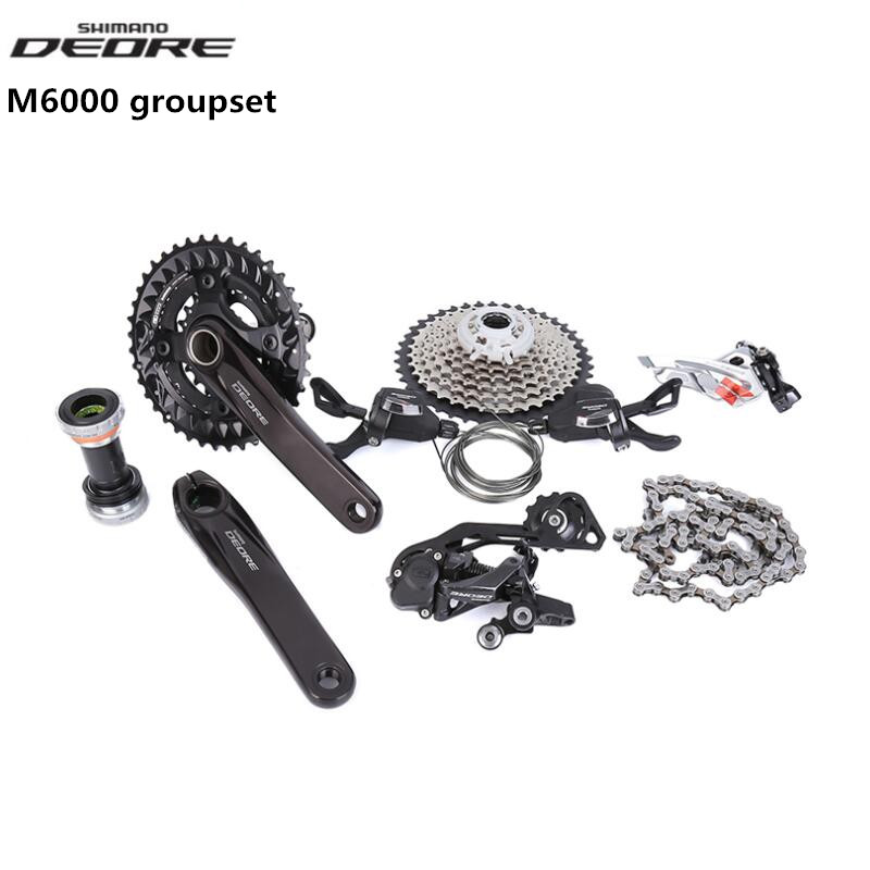 SHIMANO Deore M6000 2x10 3x10 20s 30s Speed bike bicycle MTB Groupset 7 Pcs update from M610 M615 bicycle mtb 3x10 30 speed front rear shifter derailleur groupset for shimano m610 m670 m780 system