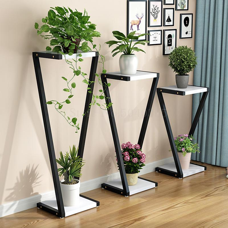 Creative Modern Flower Stand Living Room Multi-storey Indoor Special Home Green Frame Floor-standing Flower Frame Wrought Iron