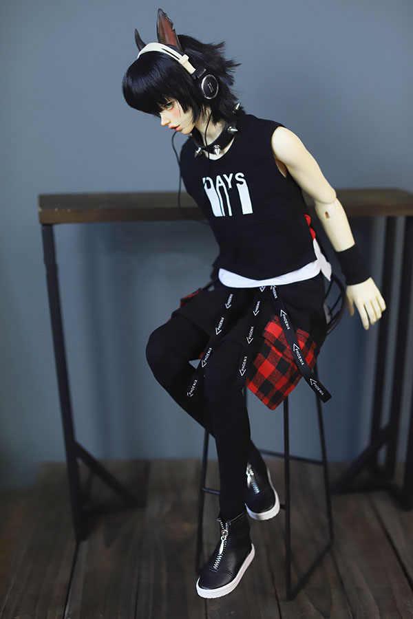 BJD Кукла Одежда Костюм для кукол поддельные из двух частей с принтом жилет и мешковатые штаны для 1/4 1/3 BJD SD Размер дяди SSDF кукла аксессуары