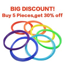 Dewang Brand Red  5m ABS 3d filament 21 Colors for 3D Pen Doodle plastic Rubber Consumables (color by random) Free Shipping