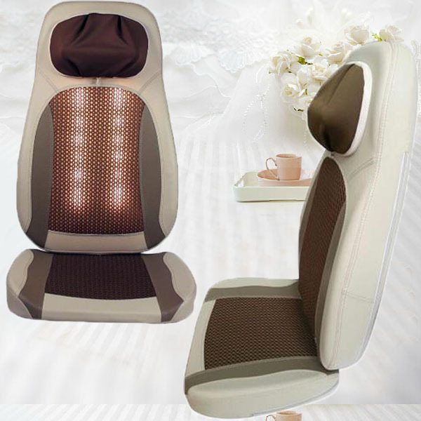 portable back massager chair with luxury leather fullbody massage padchina