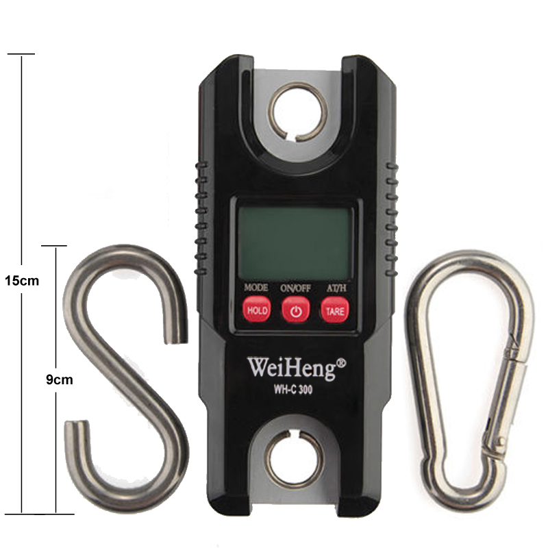 Digital Crane Scale 660LB/300KG Hanging Scale Professional Electronic Portable Weight Heavy Duty For Hunting Fishing Farm