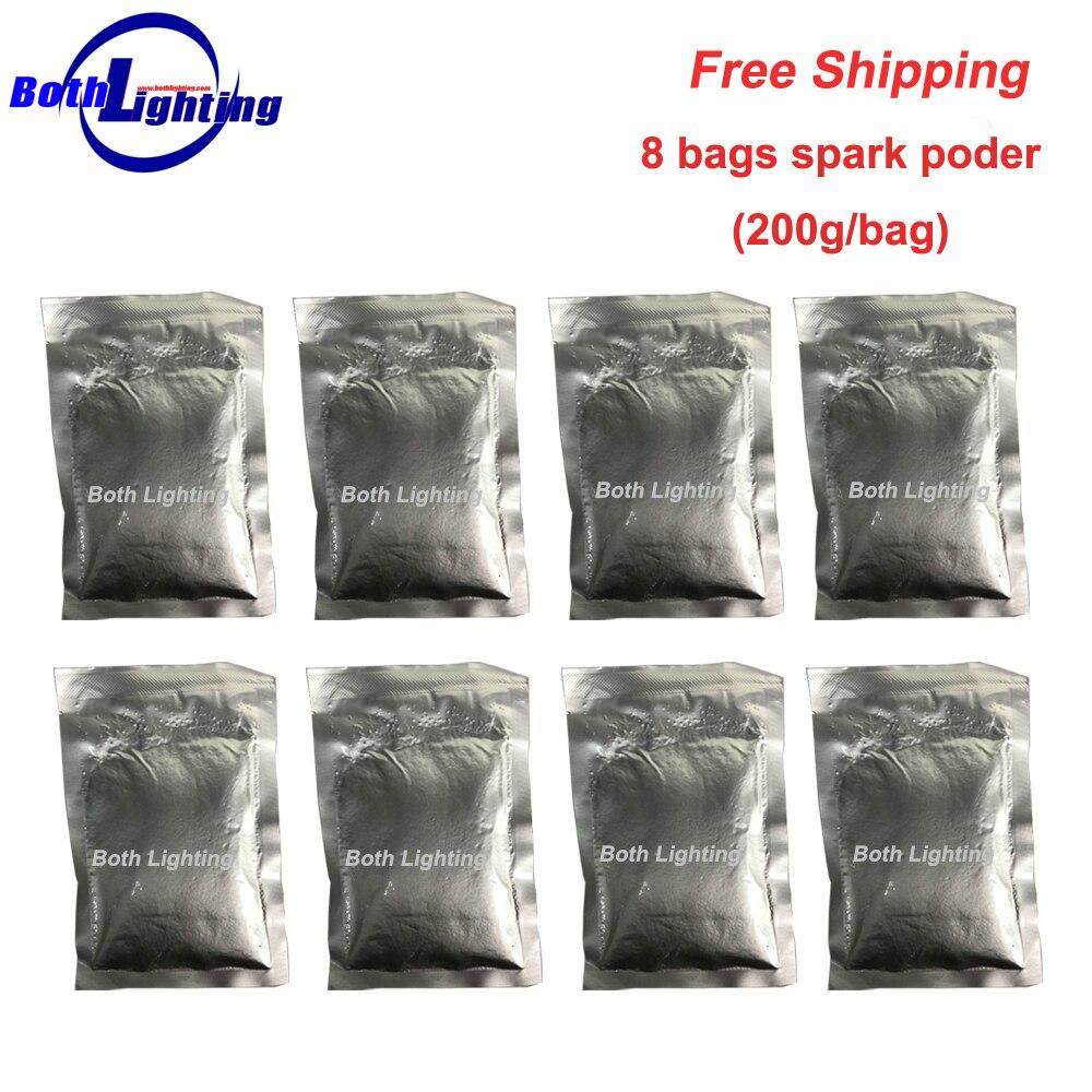 8 sacs 200 g/sac pour la Machine de feu d'artifice de poder d'étincelle froide