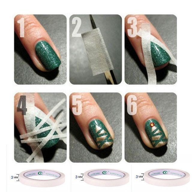 3 Stks Nagels Tips Nail Art Gel Polish Plakband Voor Diy Nail Waps