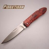 جديد الطي سكين جيب صغيرة طية التخييم اليدوية snakewood مقبض الفولاذ الصلب أداة القطع الحادة بقاء التكتيكي شارب