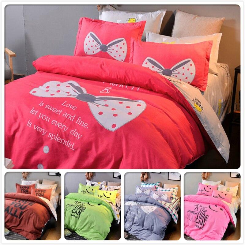Kids 3/4 pcs Bedding Set Single Double Queen King Size Duvet Cover Bedlinen 1.5m 1.8m 2m 2.2 Bedsheet Pillowcase Beds Bedclothes