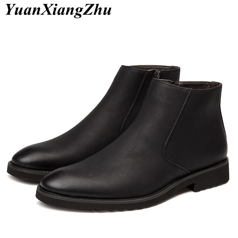 New Man Martins Booties Fashion Chelsea Boots Men Leather Boots British Style Martins Ankle Boots Winter Plus Size Shoes fr lancelot 2018 fashion chelsea boots british style men leather boots low heel fashion men s booties party shoes mujer botas