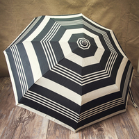 High quality Striped porcelain handle seventy percent off full automatic umbrella stripe auto open auto colose umbrella