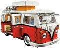 2016 nueva lepin 21001 1354 unids creador volkswagen t1 camper van modelo kits de construcción juguetes de los ladrillos compatible legoe 10220