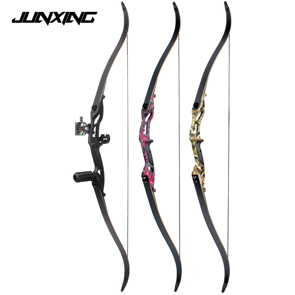 3 Color 30 50lbs Recurve Bow 56 American Hunting Bow Black Red Camo Camo Archery With