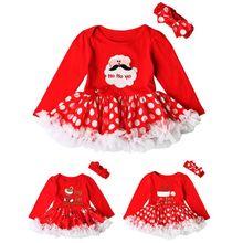 Santa Christmas Dress For Kids Girls Winter Clothing