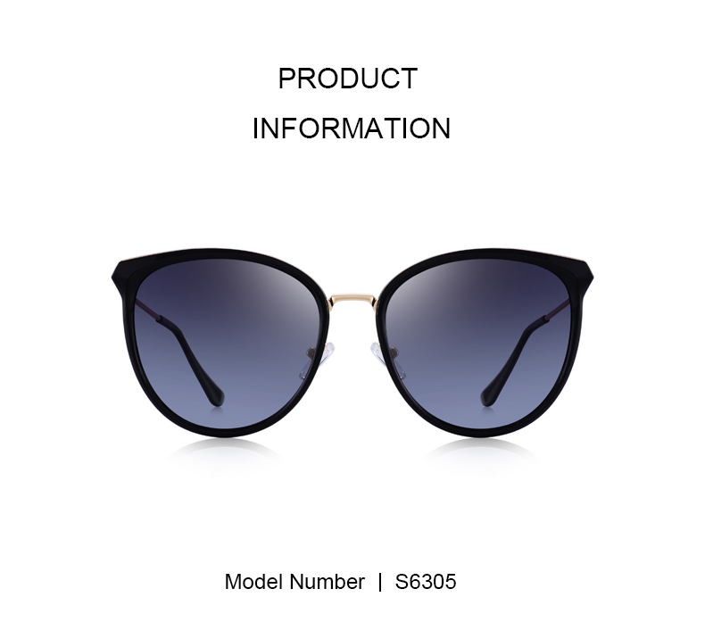 Cat-Eye Polarized Sunglasses S6305