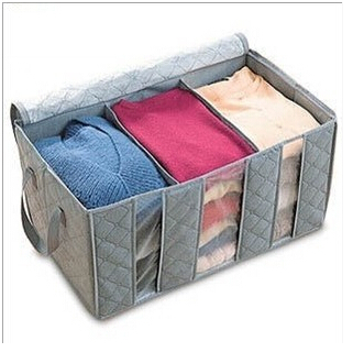 Free shipping Size 60*35*30 cm Bamboo charcoal receive clothes chalk bag 65 l in addition to taste Windows receive box ST0029