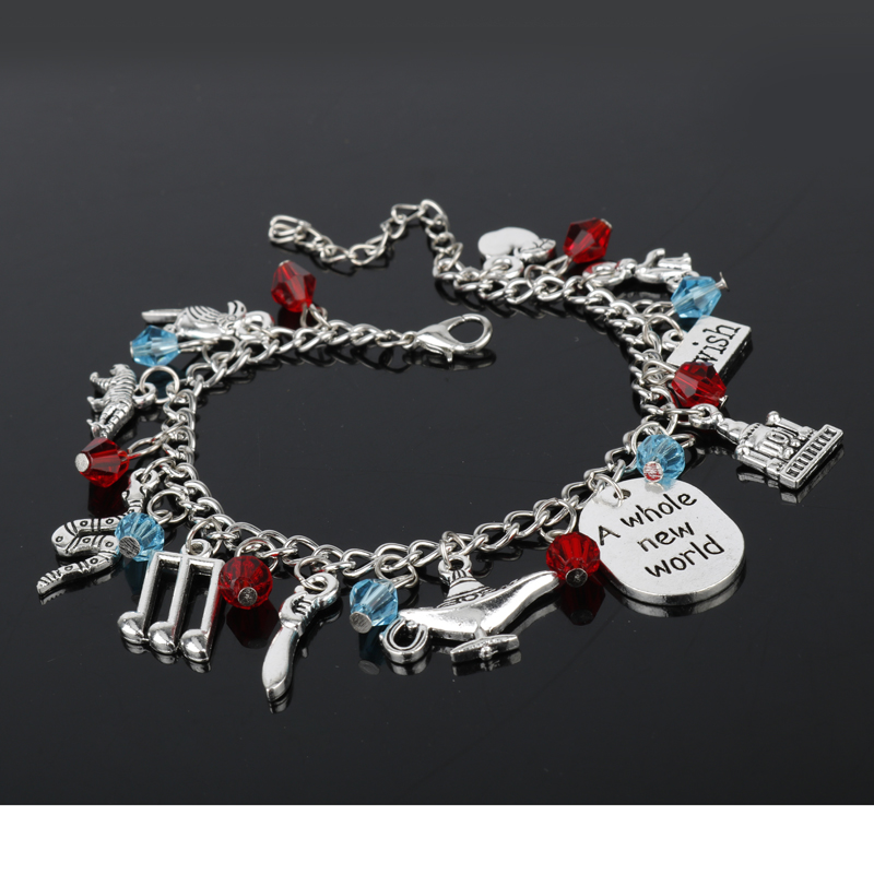 Aladdin Charm Bracelets & Bangles Letter A Whole New World Animals - Bisutería - foto 2