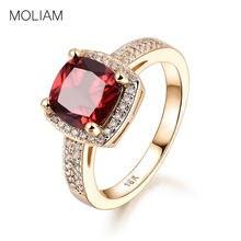 3e8028389049 Moliam Anillos para las mujeres 2017 nueva moda rojo cristal azul claro cubic  zirconia anillo de compromiso joyería Accesorios m.