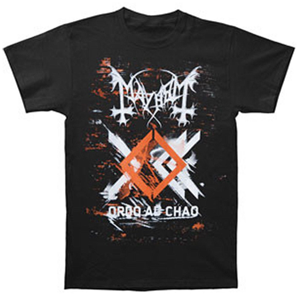 Mans Unique Cotton Short Sleeves O-Neck T Shirt Mayhem Ordo Ad Chao Album Art Black Metal T-Shirt New ...