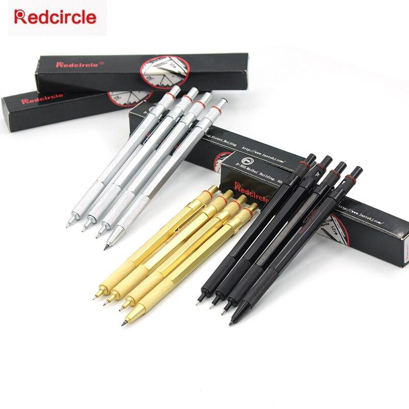 RedCircle Metal Mechanical Pencil Steel 0.5/0.7/0.9/2.0mm for Drafting Drawing School Supplies rotring rapid pro metal mechanical pencil