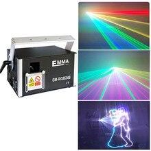 Yeni 3000mw RGB 3W tam renkli animasyon lazeri sahne aydınlatma ilda 30 40kpps kırmızı 638nm işın gösterisi sistemi Dmx Dj disko lazer