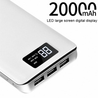 HOCO 3 USB Mobile Power Bank 20000mAh 18650 Powerbank Portable Charger External Battery 20000 MAH Phone