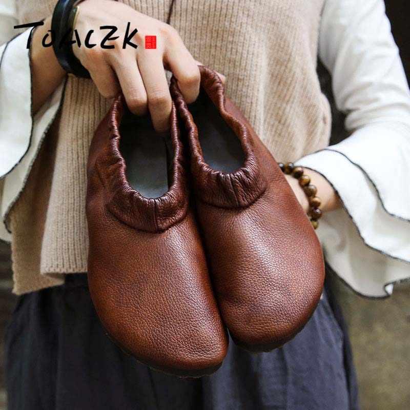 ขายแถม $8 คูปองบนรายละเอียด Slip บนรองเท้าหนังทำด้วยมือผู้หญิงพยาบาล Peas Loafers ผู้หญิงรองเท้า