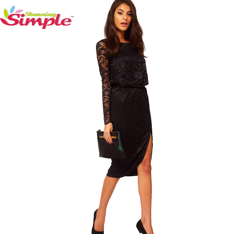 2016 Womens Vestido Sext Style Women Lace O Neck -2802