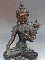 """Shitou 002898 11 """"Tibet Buddhismus Tempel Lila Bronze 7 Augen kwan yin Weiße Tara Buddha Statue-in Statuen & Skulpturen aus Heim und Garten bei"""