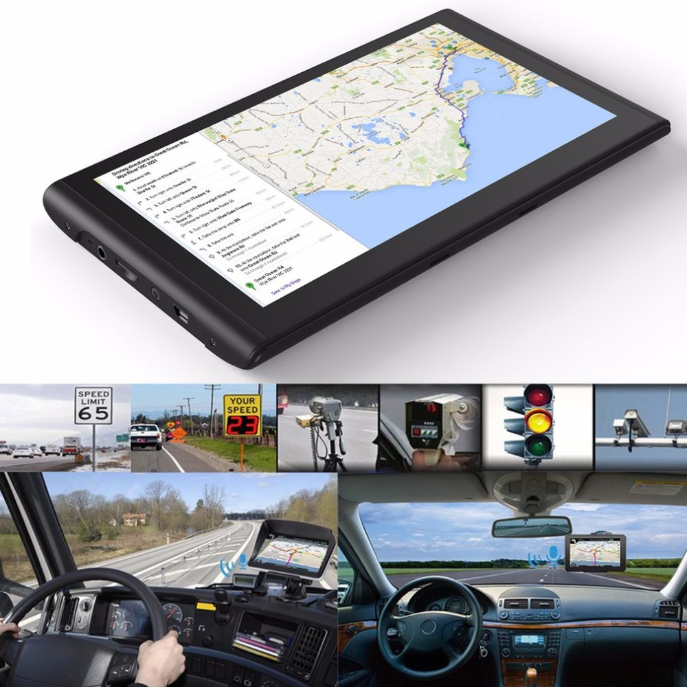 7 inch HD Car GPS Navigation Bluetooth AVIN Capacitive Touch Screen FM 8GB Vehicle Truck GPS Europe Sat nav Lifetime Map