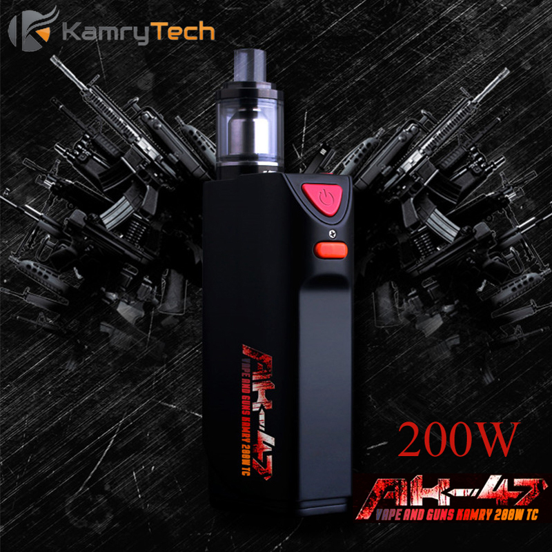 Electronic Cigarette Vape Box Mod E Hookah Vaporizer Kamry AK-47 1-200W TC Mod E-Cigarette for Big Smoke AK 47 RDA Tank X1037 tvs golden mechanical mod e cigarette