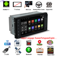 2 Din Car Radio 7 Inches Player GPS Navigation Android 7.1 Dvd Automotivo Reversing Camera Bluetooth For TOYOTA General Machine