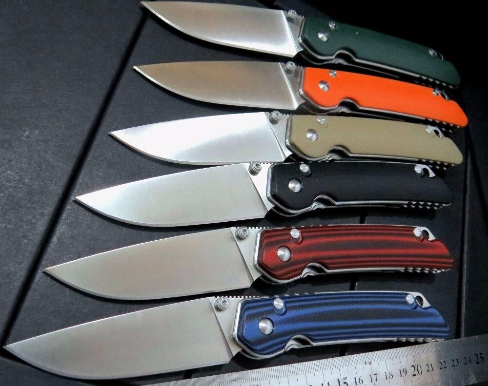 Hot sale Custom Folding font b Knife b font G10 handle D2 steel blade camping font