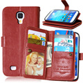 Quality Wallet Pouch Case For Samsung Galaxy S4 S5 Flip Case I9500 G900F I9600 Stand Case Cover 9 Card Slot Holder Vintage Hot