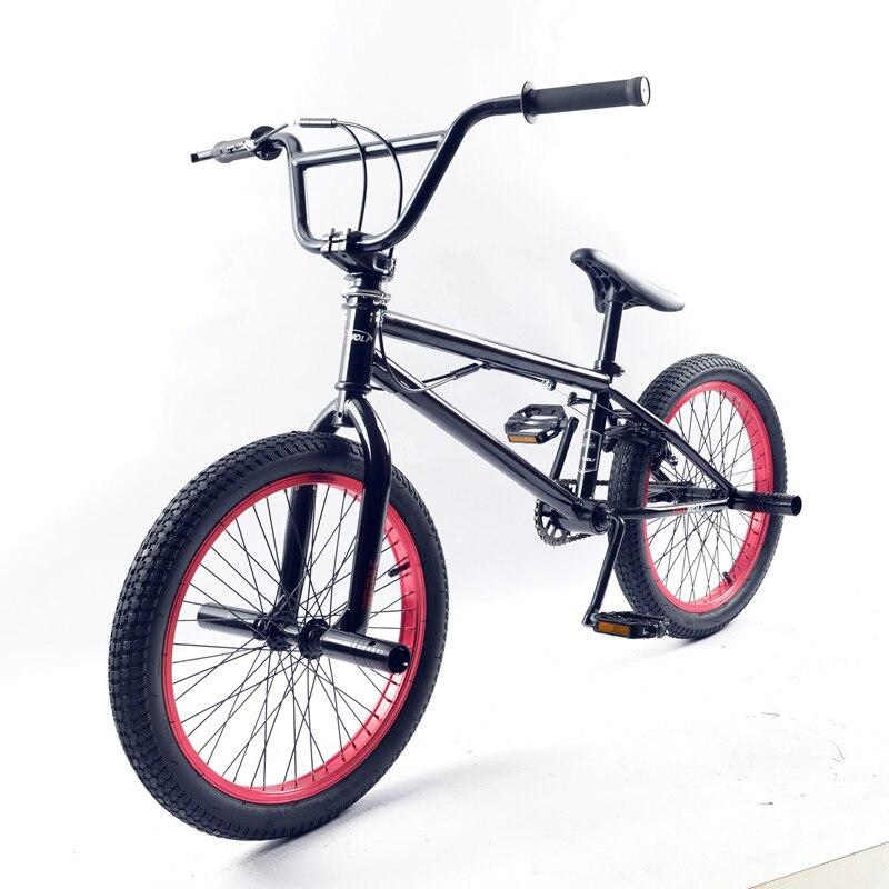 BMX велосипед стальная рама, дюймов 20 дюймов Мужская Фристайл шоу, собственный уличный угол экстремальный трюк, горный велосипед задний торм...