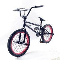 20 Inch BMX Bike Steel Frame Performance Bike Purple Red Tire Bike For Show Stunt Acrobatic