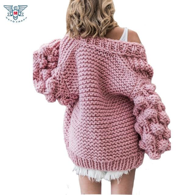 Tienda Online 2018 otoño y invierno suéter de punto de ganchillo ...