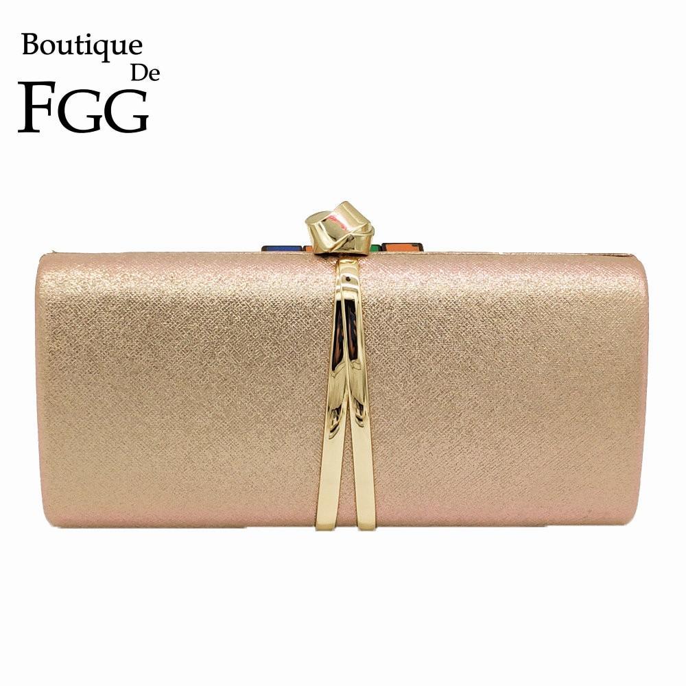Boutique De FGG New Designer Fashion Women Clutches Ladies Formal Evening Bags Wedding Clutch Purse Party Chain Shoulder Bag